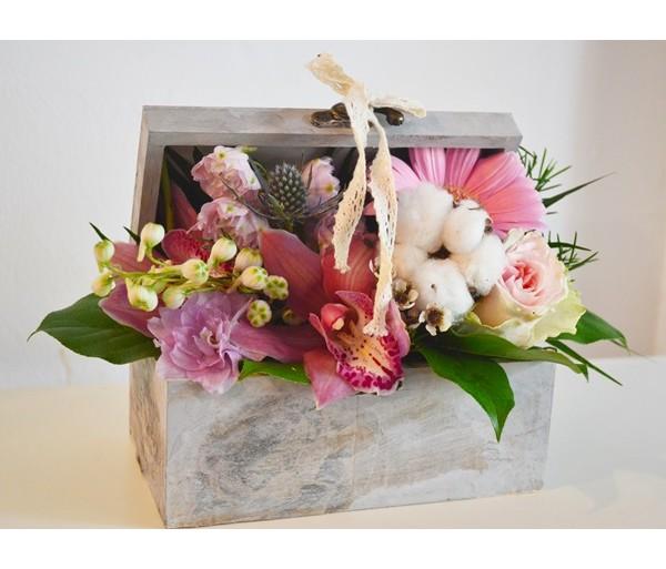 Aranjament Floral In Cutie